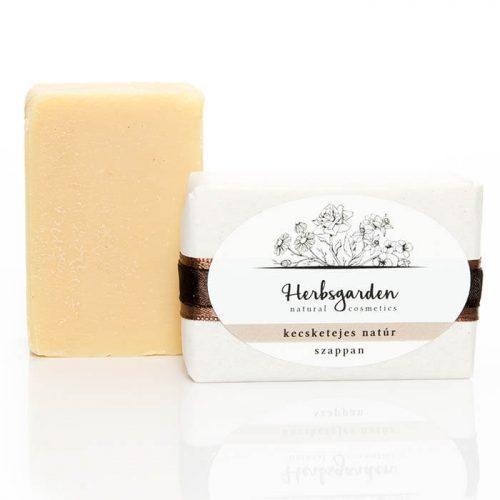 """Herbsgarden kecsketejes natúr szappan - """"mindenmentes"""", így gyerekeknek és érzékeny bőrűeknek is kiváló."""